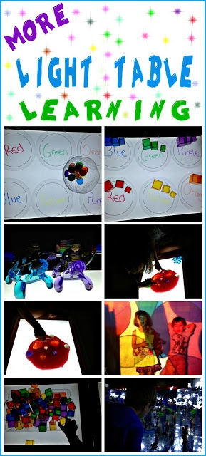 Light and Learning, more awesome light table activities from Caution! Twins at Play