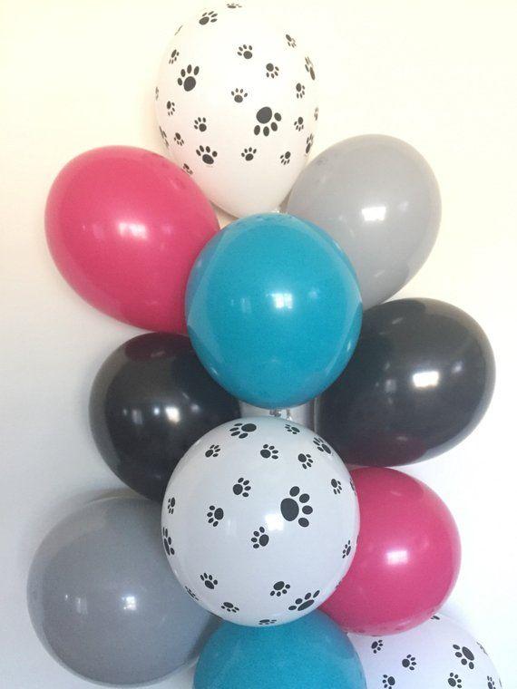 Dog Balloons , Paw Print Balloons, Dog Birthday Balloons , Puppy