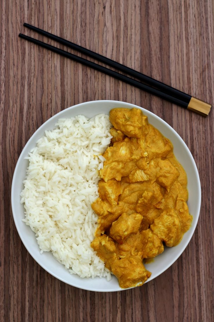 Curry de poulet au lait de coco et cacahuètes - 4SP Weight Watchers