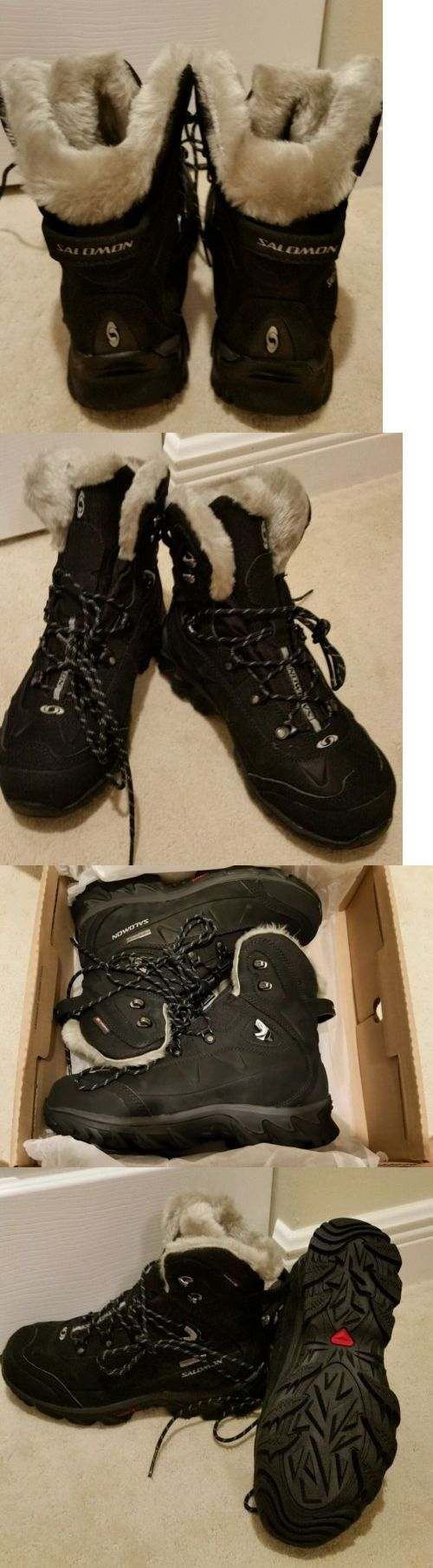 Womens 181393: Salomon Waterproof Nytro Wp W Womens Hikers Black Climatherm Winter Boots Us 7 BUY IT NOW ONLY: $75.0