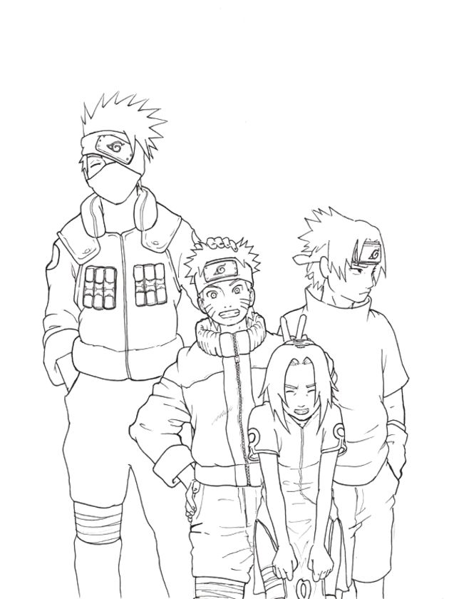 naruto coloring book pages - photo#9