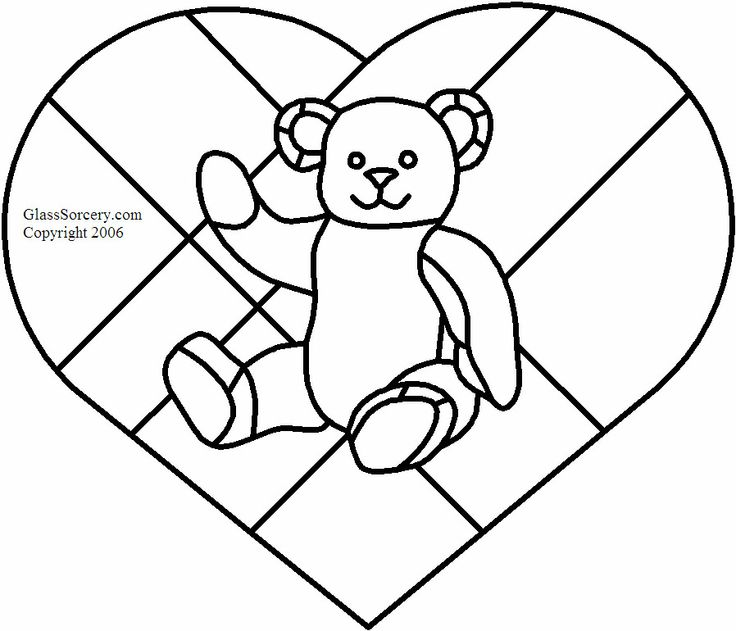 valentines stained glass coloring pages - photo#7