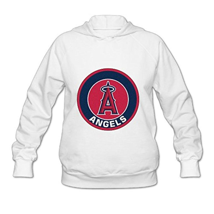Los Angeles Angels MLB Team Logo Fashion Women's Pullover Hoodie White - Brought to you by Avarsha.com