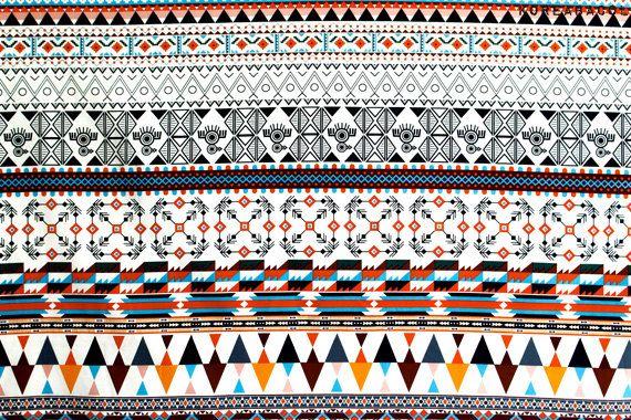 Scandinaves tissu tissu aztèque 43 x 35 100 % par KoreaBacol