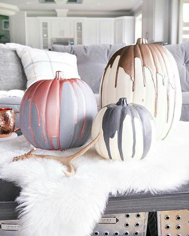 Decor pumpkins from Michael's & paint