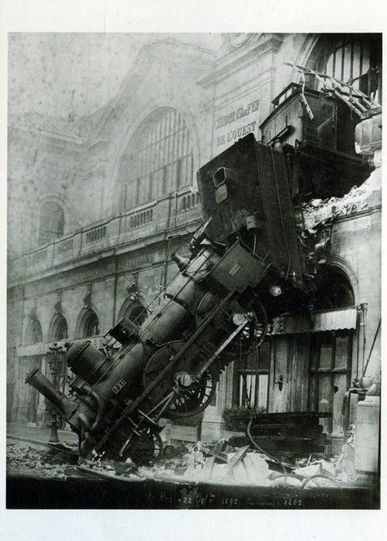 Accidente de la Gare Montparnasse, Paris, 1895