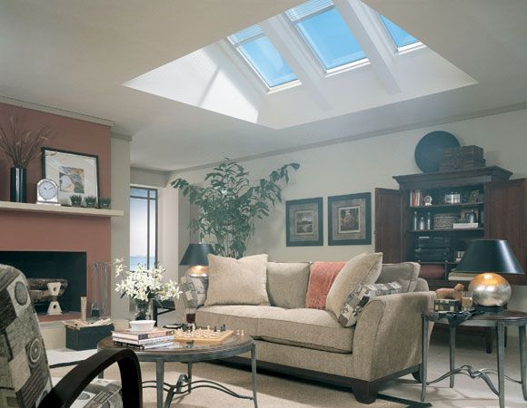 Skylights In Living Room Flat Ceiling With Attic Skylights Pinterest Skylight Attic And