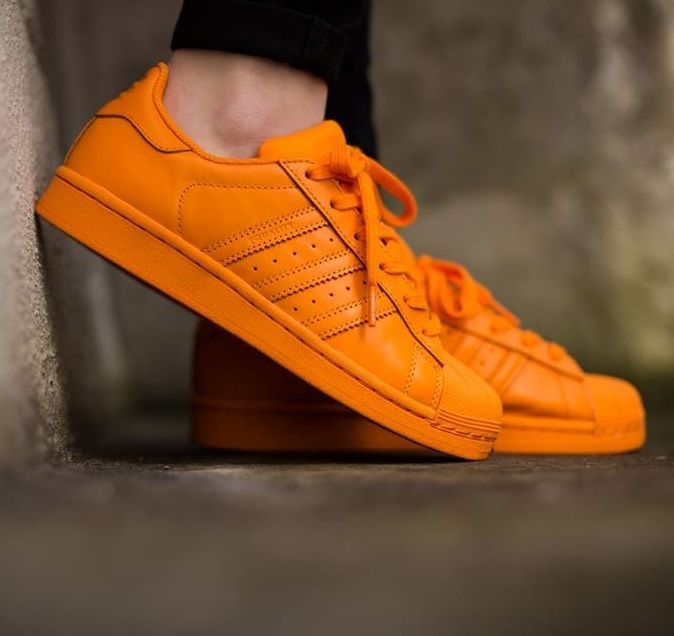f89edd3d47e3 Pharrell Williams x adidas Originals Superstar  Supercolor  Orange ...