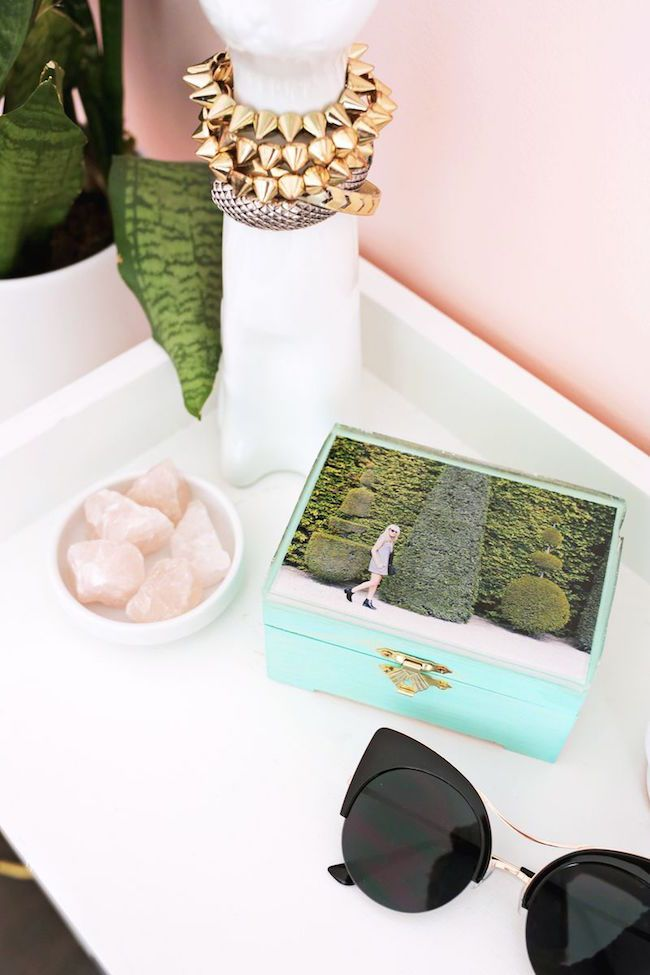 Utiliza una foto tuya para personalizar una caja joyero  #diy #decorar