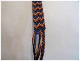 Make this double chevron friendship bracelet and master other ( regular & wide patterns)… Someday. =*w*=^ ☆