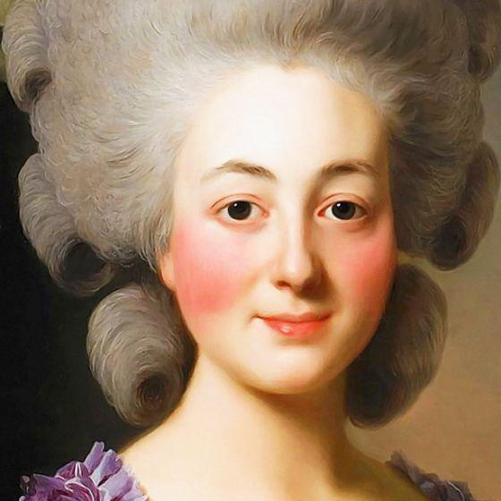 ALEXANDER ROSLIN. The Marquise de Becdelièvre (detail). 1780.