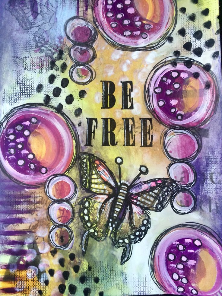 PanPastel art journal page // be free