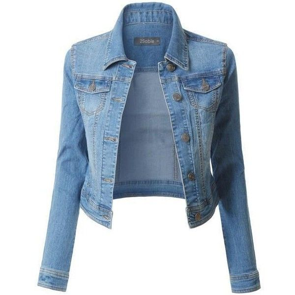 Tops ❤ liked on Polyvore featuring tops, denim jacket, blue denim jacket, blue jackets, blue jean jacket and fitted jacket