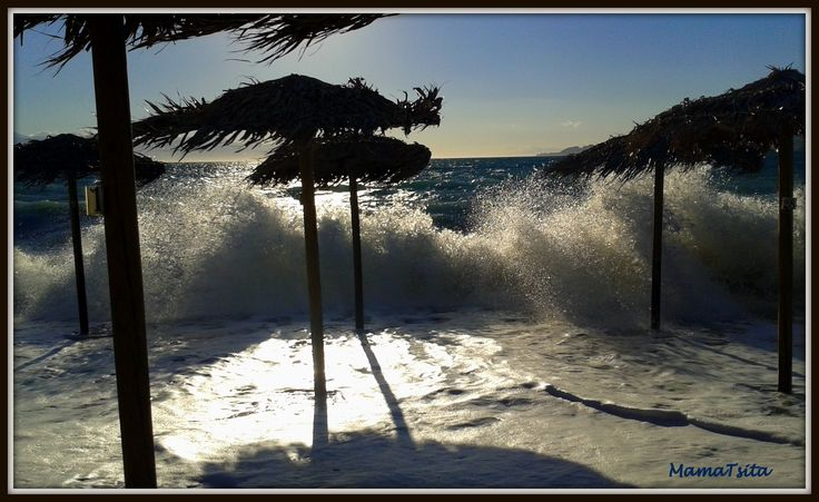 Wild sea. Loutraki.