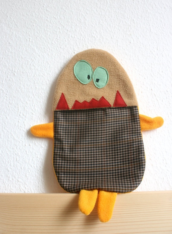 Gordon hot water bottle cover by HappyMonstersLand on Etsy, $26.00