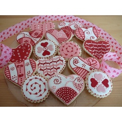 Galletas Decoradas De San Valentín   Valentine Heart Cookies   My Valentine  Cookies. Buttercookies Covered With Royal Icing And Some Of Them Have  Fondant ...
