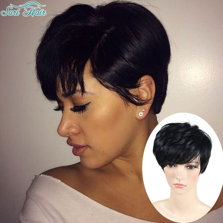 Short Pixie Cut Wig Short Wigs For Black Women African American Short Wigs Black Hair Wig Perruque Synthetic Women Pelucas