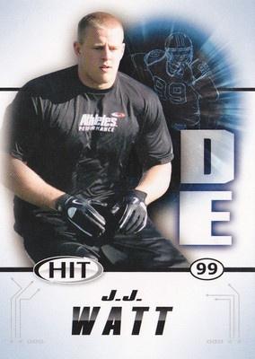 JJ WATT HOUSTON TEXANS ROOKIE CARD SAGE HIT # 99 2011 WISCONSIN BADGERS J.J. J J