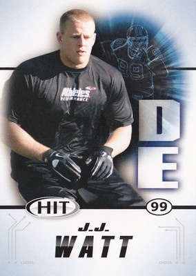JJ WATT HOUSTON TEXANS ROOKIE CARD SAGE HIT # 99 2011 WISCONSIN BADGERS - reminds me of Russ!!! Love him!!