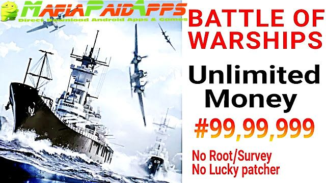 Battle of Warships Apk Mod (Gold/Unlocked) Data for android