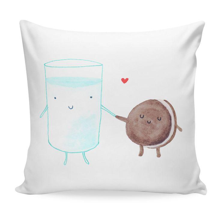 Milch & KeksKissen - Ich habe mich inspirieren lassen und einfach mein eigenes Kissen bemalt. Das Original hier ^gibt es bei Mr und Mrs Panda