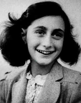 Anne Frank, known worldwide for the publication of her diary while in hiding, was a young Jewish girl who died at a German Concentration Camp. The famous home where she was hiding was located in the Dutch capital of Amsterdam. Today, the house is currently a museum, and her diary has been published in more than 60 languages.  http://en.wikipedia.org/wiki/File:Anne_Frank.jpg