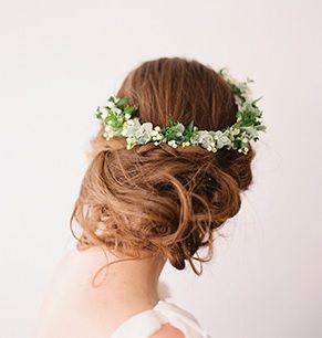 Wianek z kwiatów na ślub