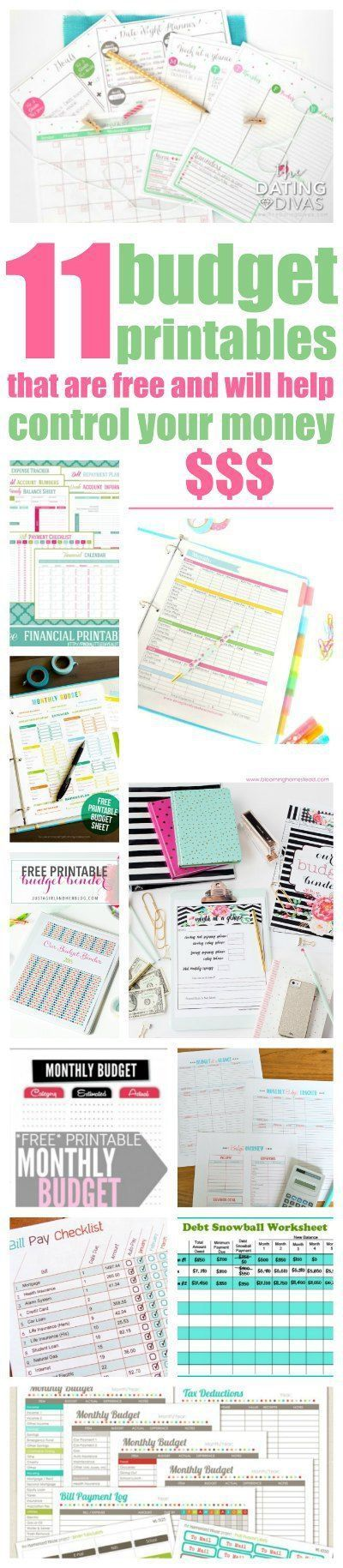 free budget printables to help you take control of your money