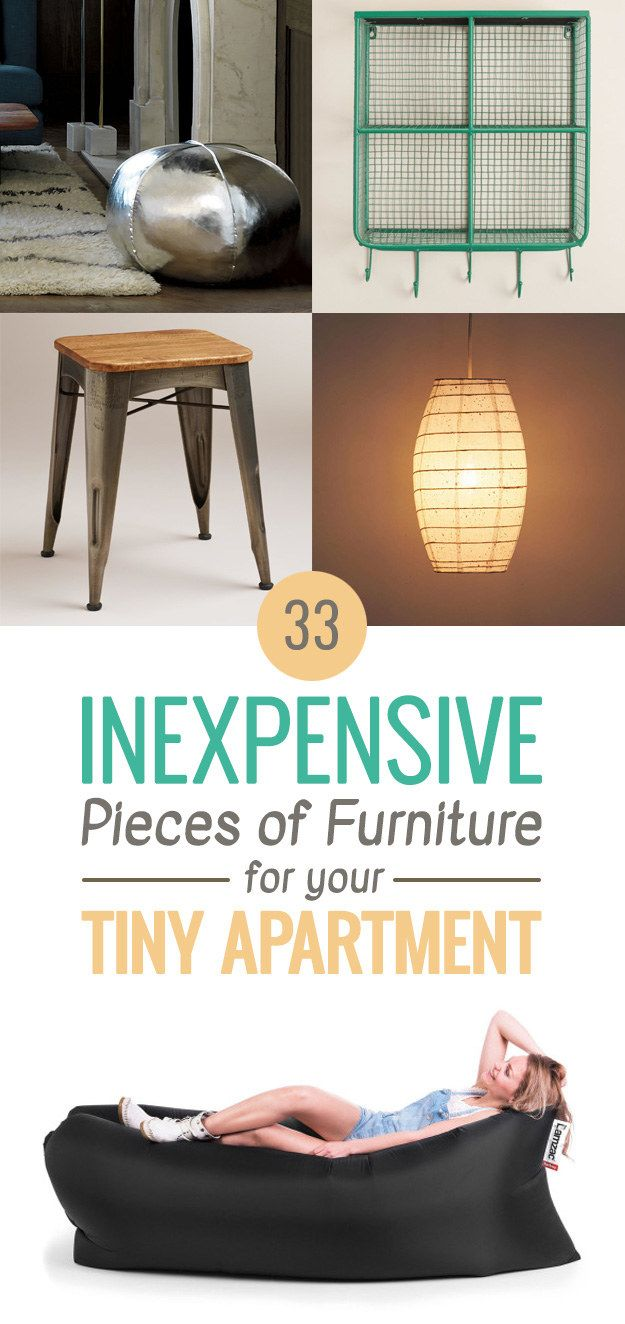 33 Inexpensive Pieces Of Furniture For Your Tiny Apartment-- saving this for the kitchen cart alone