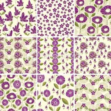 Bottom left - funky flowers