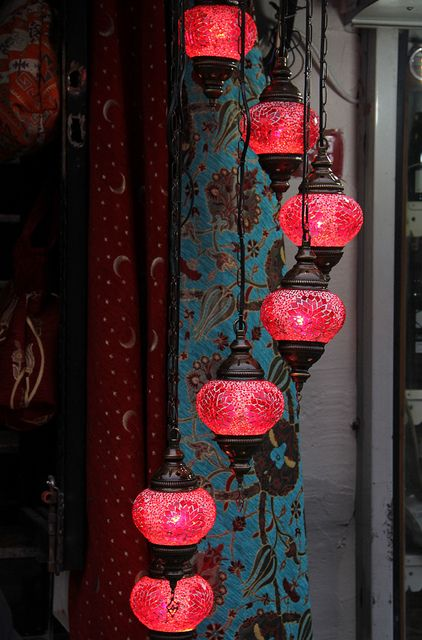 Red for the bedroom.     Turkish lamps