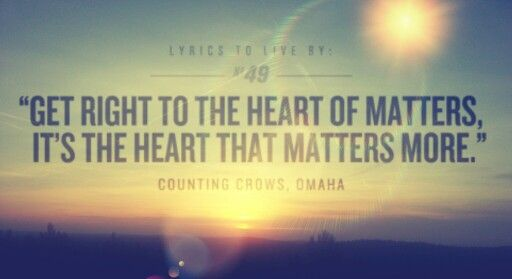 Omaha, Counting Crows. I've listened to this song more times than I can count. This album will always be an important part of my life :)