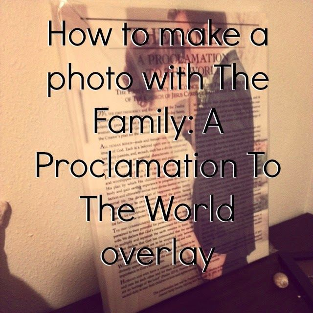 """Proclamation to the World Tutorial"" Excellent tutorial for any kind of picture/word overlay thing. :D"