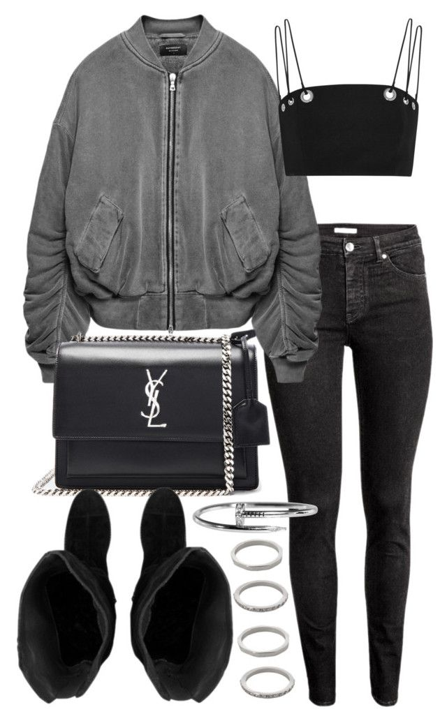 """""""Untitled #20498"""" by florencia95 ❤ liked on Polyvore featuring Thierry Mugler, Yves Saint Laurent and Forever 21"""