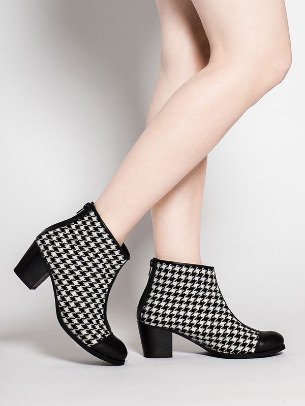 #COCO #Butydamskie  #tkanina  #skóra  #2016 #manista  #manistashop  #botki #women shoes   #fabric  #skin #2016  #booties  #booties #pepitka #houndstooth