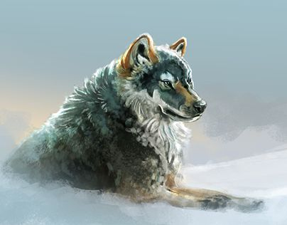 """Check out new work on my @Behance portfolio: """"Gray Wolf"""" http://be.net/gallery/45967387/Gray-Wolf"""