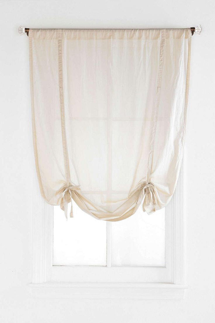 I could make these...Draped Shade Curtain