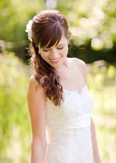 beyond the aisle: wedding hairstyle trends: ponytails