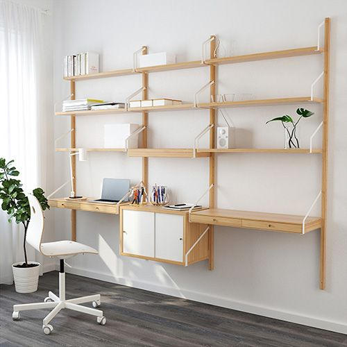 Oltre 25 fantastiche idee su scrivania con scaffali su - Scaffali ikea legno ...