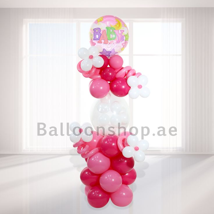 Balloonshop.ae - Baby Girl Floral Arrangement,
