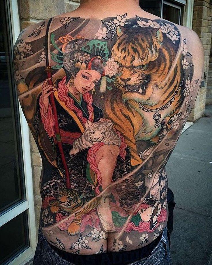 Tattoo Woman Japanese: 25+ Beste Ideeën Over Japanese Back Tattoo Op Pinterest