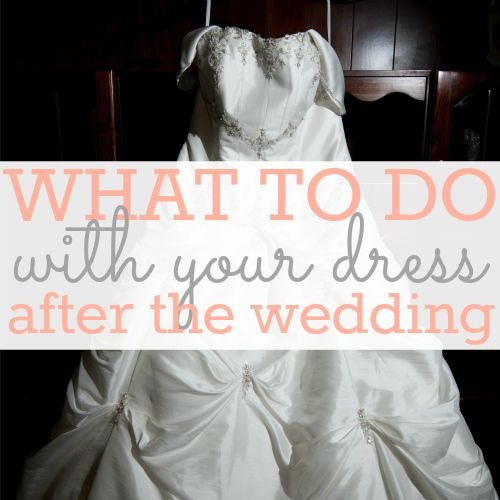 Why do we let our wedding dresses sit, almost forgotten, in a closet after it's been used? Here are a few ideas of what to do with your dress after it has served it main purpose.  Gift the gown- Give your wedding dress a life far beyond you. Gift the dress to someone who cannot afford their