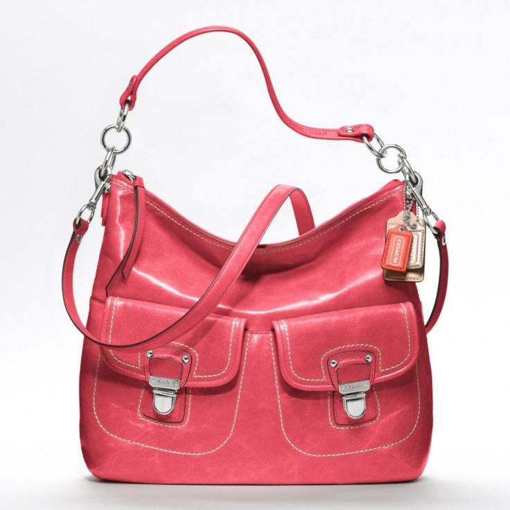Coach New Poppy Leather Swing Hobo Style 19768