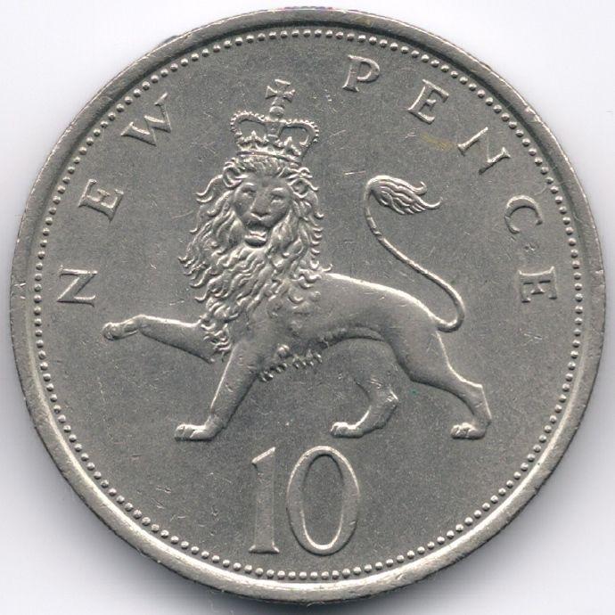 United Kingdom 10 Pence 1973 Veiling in de Decimaal,Brits,Munten,Munten & Banknota's Categorie op eBid België | 151871684