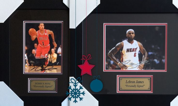 Tag an NBA fanatic! 🏀  Get these signed photos of Lebron James and Derick Rose from the Signed Sports Memorabilia Auction - ONLINE NOW