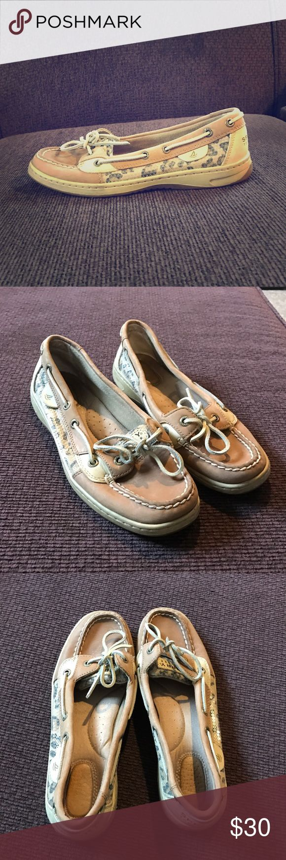 Cheetah Print Sperry Boat Shoes Boat shoes with cheetah print and sequin detail ❤️ Sperry Shoes