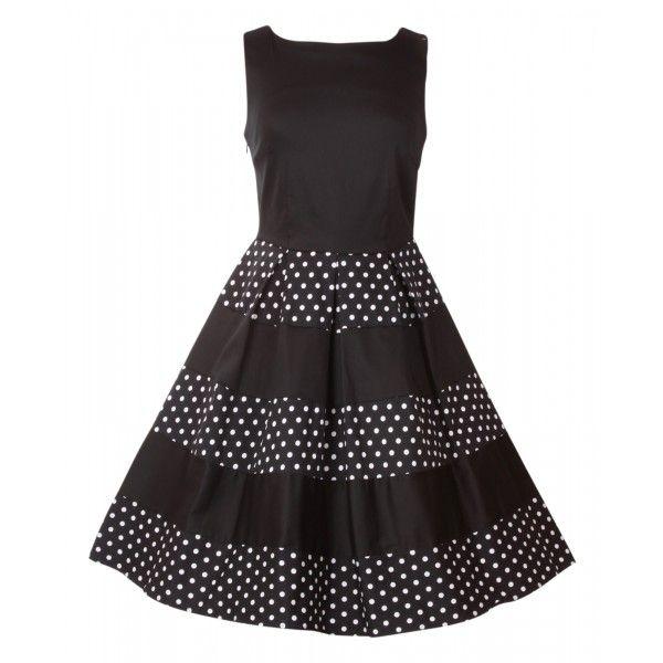 Šaty Dolly and Dotty Anna Black Polka Skvělé šaty za ještě lepší cenu, které prostě musíte mít! Šaty vhodné pro slavnostnější příležitost jako je ples, večírek, narozeninová oslava, ale stejně tak na běžné nošení. Střih ve stylu Audrey s lodičkovým výstřihem, rozšířenou sukní s pravidelnými sklady, která je tvořená širokými pruhy v černé a puntíkaté verzi. Kvalitní silná strečová bavlna (95% bavlna, 5% elastan) zajistí příjemné nošení, zapínání na krytý zip v bočním švu. Pro bohatý objem…