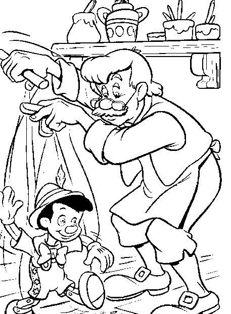 Mi colección de dibujos: Dibujos de Pinocho para colorear
