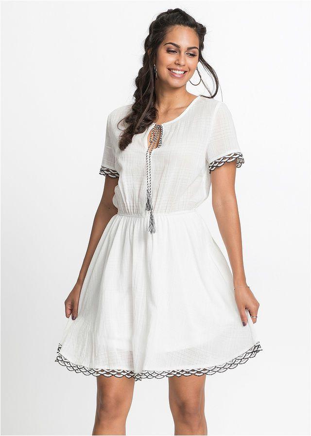2152c15bf44b Šaty s čipkou a strapcami Trendové šaty • 34.99 € • bonprix