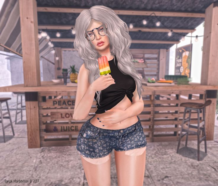 https://flic.kr/p/Uxa7gh | Look Nº 630 | Body.- *Mesh head - CATWA HEAD Kimberly *Skin applier - Insol: Face 'Daria' -ST03 'Milk' *Mesh hair - Blues. Minky - Ashy Blue (Gacha)  Clothes and accessories.- *Top - [I<3F] Top [01] *Pants - La belle .ingenue. - Dylan dirty shorts [1] (6 textures,all appliers) Thanks Madalena  Sivith <3   Animations.- Kirin- My Popsicle Poses and Props  Location.- Orchid  You can find me in..... BLOGGER FLICKR FACEBOOK PINTEREST TUMBLR
